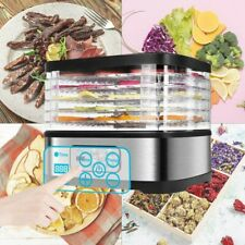 New ListingElectric Food Dryer Dehydrator Machine with Digital Temperature 5 Trays and Time