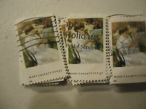 """US postage stamp lot Mary Cassatt Painting """"On A Balcony"""" #3806 - 100 pack"""