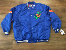 New Florida Gators UF University Starter Retro Satin Blue Jacket Men's Size 4xl