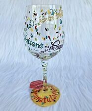 Santa Barbara Design Lolita Congratulations Love My Wine Hand-painted Glass
