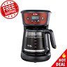 12-Cup Programmable Coffeemaker Stainless Steel Programmable Home Office NEW