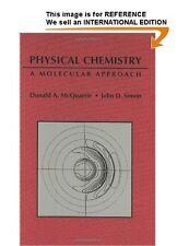 SIMON MCQUARRIE 1e Physical Chemistry: A Molecular Approach - Int' Ed Paperback