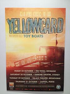 YELLOWCARD Australian Tour Poster 2013 A2 Ocean Avenue Acoustic Southern Air NEW