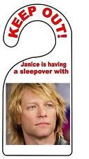 Jon Bon Jovi  Door Hanger Door Sign Door Plaque