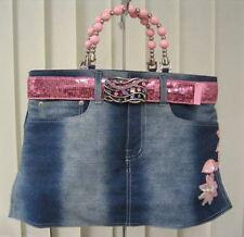 Lot of 20 Denim Booty Bags, Blue Jean Purse Handbag Lot