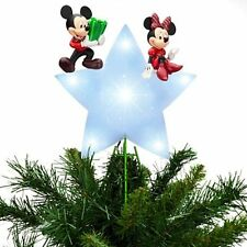DISNEY MICKEY AND MINNIE 2013 CHRISTMAS TREE TOPPER --NEW
