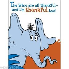 HORTON HEARS A WHO THANK YOU NOTES (8) ~ Seuss Birthday Party Supplies Cards