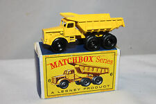 Matchbox #6 Euclid Quarry Truck, Fat Tires, with Type D Box