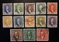 IRAQ. 1932 King Faisal I  of iraq, lot of used stamps