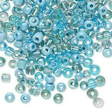 18mm LW104...40 x TWISTED TUBE LAMPWORK BEADS BLUE