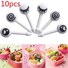 10pcs Eye Mini Food Fruit Picks Baby Kid Forks Bento Lunch Box Tool Tableware
