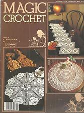 Magic Crochet Magazine No 24 Pattern Book 1983 Doilies Vintage