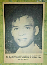 LE QUANG VINH - 1962 ANTI EXECUTION - VIET CONG -  LEAFLET - Vietnam War - 0948