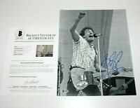 BRUCE SPRINGSTEEN SIGNED 11x14 PHOTO BECKETT COA BORN IN THE USA CONCERT TOUR