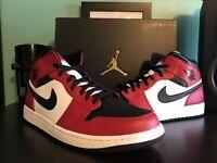 Nike Air Jordan 1 Mid Chicago Black Toe 554724-069 US Men's Size 13 New DS