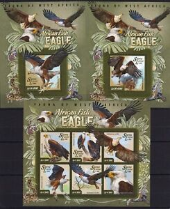 Sierra Leone - Eagles / Birds / Adler / Aigle on stamps / timbres MNH** AY