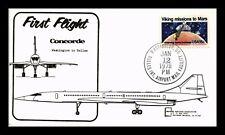US COVER FIRST FLIGHT CONCORDE WASHINGTON DC DALLAS TEXAS AIR MAIL