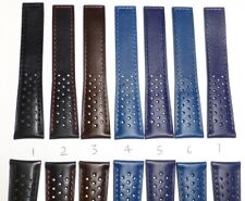 20mm Perforated Genuine Leather Watch Band Strap replacement for TAG HEUER