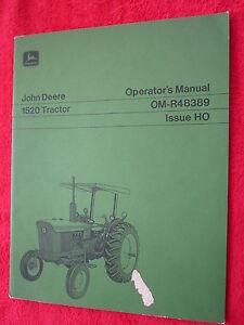 VINTAGE ORIGINAL JOHN DEERE 1520 TRACTOR OPERATORS MANUAL