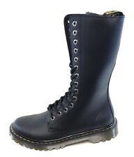 Womens DR MARTENS Luana Tall 24711001 Black 14 Eye Side Zip Combat Boots Shoes