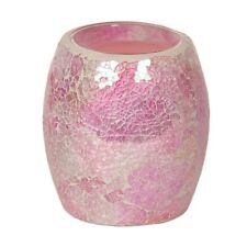 Aroma Pink Crackle Electric Wax Melt Burner Yankee Tart Suitable Gift Idea 14cm