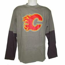 New NHL Calgary Flames Mens Long Sleeve Jersey Large Army Grey