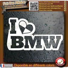 stickers autocollant j'aime BMW MotorSport M3 M5 x3 m6 M4 serie e30 e35 love bmw
