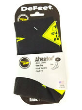 "DeFeet 3"" Aireator Quarter Athletic Socks, Share the Road, XL, New"