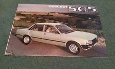 1980 PEUGEOT 505 SALOON UK FOLDER BROCHURE GR SR Ti STi GRD SRD Ron Larder Louth