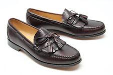Allen Edmonds Stoughton Mens Loafers 10 A Burgundy Leather Kiltie Tassel Shoes