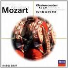 ANDRAS SCHIFF - KLAVIERSONATEN KV 331,332,333;CD 9 TRACKS MOZART SOLO PIANO NEU