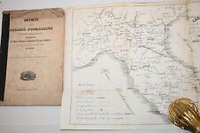 FERROVIE TRENI Linea ferrata Castelfranco Bologna Ancona 1846 Carta Corografica
