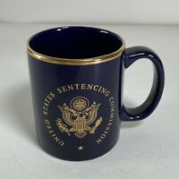 United States Sentencing Commission Ceramic Coffee Mug Cup Blue Gold