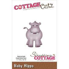 cottagecutz CC006 baby hippo ippopotamo carta gomma crepla sizzix big shot