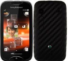 Skinomi Carbon Fiber Black Skin+Screen Protector for Sony Ericsson Mix Walkman