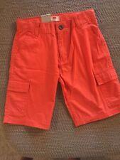 Nwt Boys Levi's Levi Strauss Cargo Shorts Orange Adjustable Waist 8 Regular