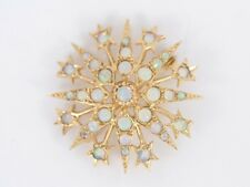 Opal Star Brooch 9ct Gold Ladies Stunning 375 Vintage Pin Badge K76