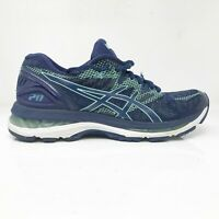 Asics Womens Gel Nimbus 20 T850N Blue Running Shoes Lace Up Low Top Size 7.5