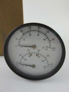 "Ametek NEW PT1088 3.5"" 50/260 Combination Pressure & Temperature 350/120 Gauge"