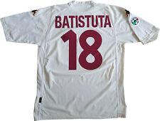 maglia Batistuta ROMA scudetto 2000 2001 Kappa N0 match worn Ina Assitalia XL