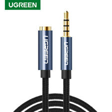 Ugreen Braided Jack 3.5mm Audio Extension Cable Adapter With Mic For Headphones
