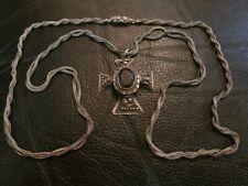 MAGNIFICENT BULKY Greek ANTIQUE Orthodox Ottoman era filigree silver cross XIXc.