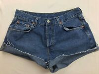 LUCKY BRAND LOW RISE DUNGAREES CUT OFF JEAN SHORTS SZ 30