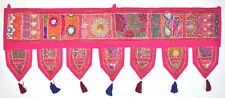 Indian Door Decoration Toran Window Topper Valance Handmade Tapestry Pink 40""