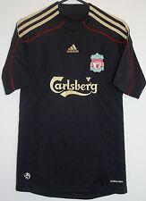 "EX! Liverpool FC 2009/2010 Away Shirt Black XS EXTRA SMALL 30"" - 32"""