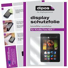 2x Amazon Kindle Fire HDX 7 Schutzfolie klar Displayschutzfolie Folie dipos