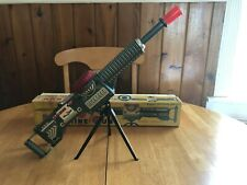 vintage Machine Gun Tin Toy, Battery Operated Beautiful! Works w/ box