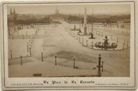 La Place Da La Concorde Parigi Foto Vintage Albumina Verso 1880