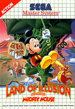 Land of Illusion Starring Mickey Mouse SEGA Master System Framed Print (Gaming)