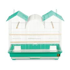 Prevue Pet Products Triple Roof Teal and White Bird Cage Green N/A